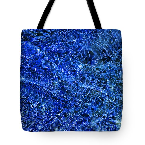 Blue Rippling Water Pattern Tote Bag by Tim Gainey