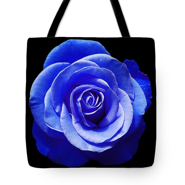 Blue Rose Tote Bag by Aimee L Maher Photography and Art