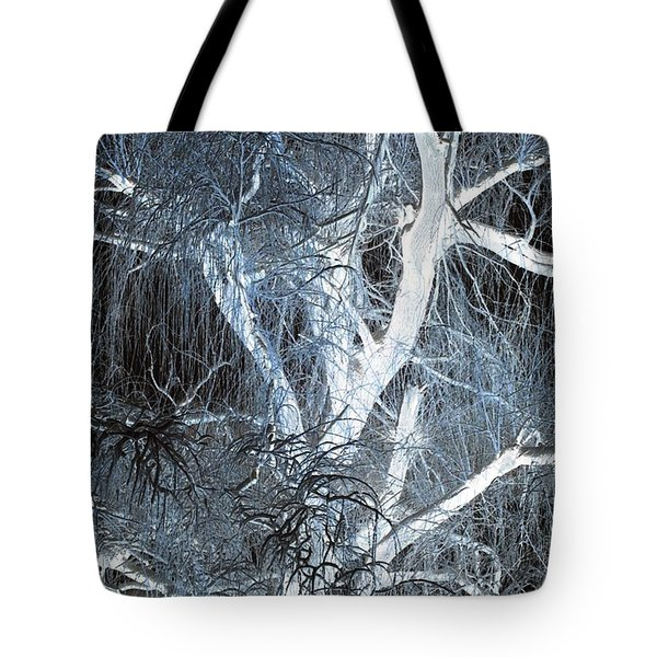 Blue Snow Tote Bag by Kathleen Struckle
