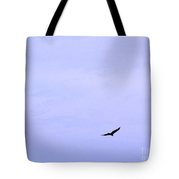 Blue Solo Flight Tote Bag by Tina M Wenger