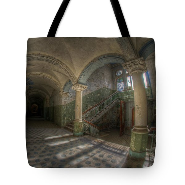 Blue Staircase Of Beauty Tote Bag by Nathan Wright