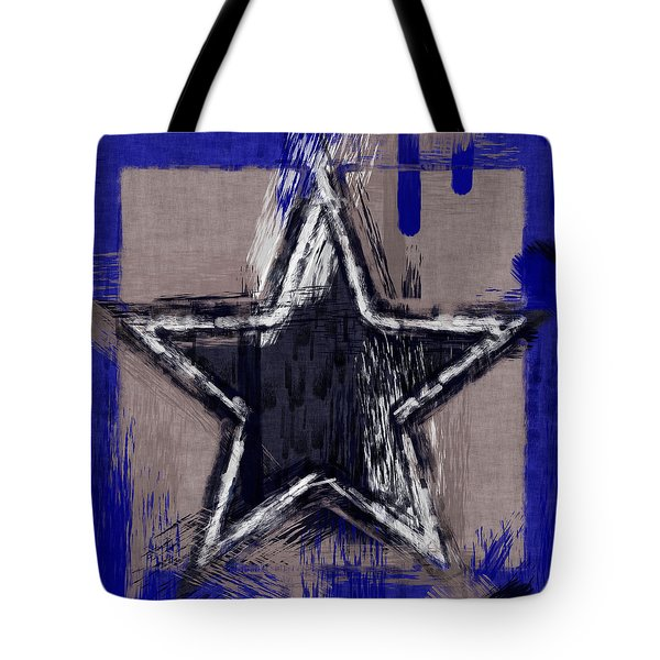 Blue Star Abstract Tote Bag by David G Paul