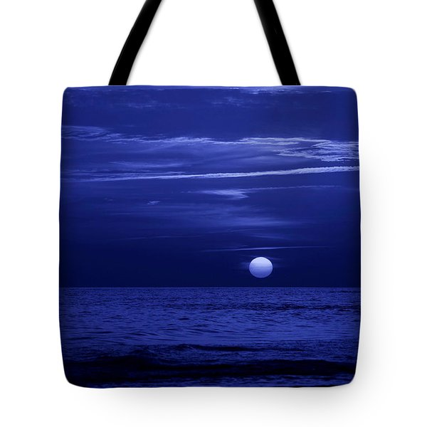 Blue Sunset Tote Bag by Sandy Keeton
