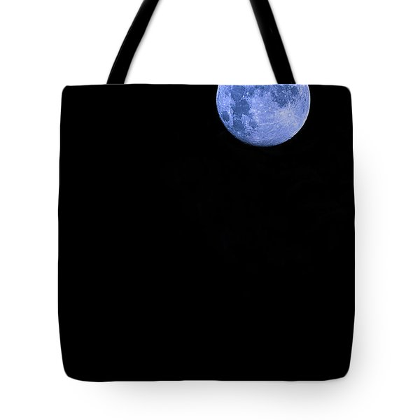 Blue Supermoon Tote Bag by Trish Mistric