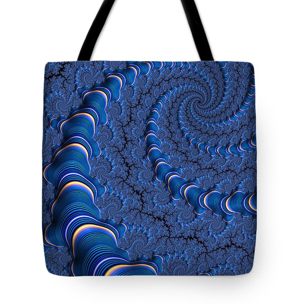Blue Tubes Tote Bag by John Edwards