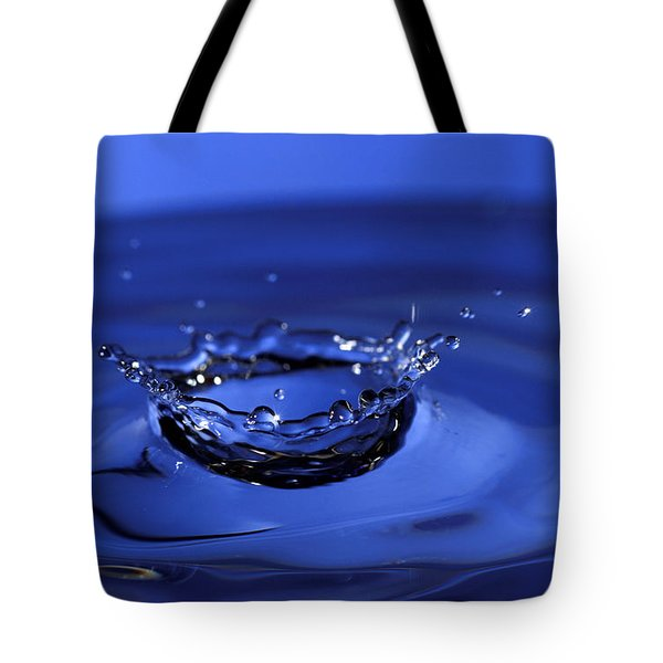 Blue Water Splash Tote Bag by Anthony Sacco