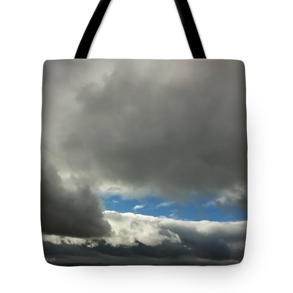 Blue Window Tote Bag by Donna Blackhall