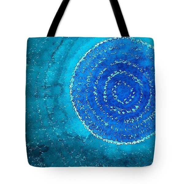Blue World Original Painting Tote Bag by Sol Luckman