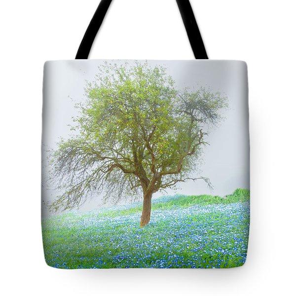 Bluebells Tote Bag by Debra and Dave Vanderlaan