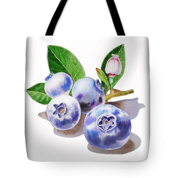 Artz Vitamins The Blueberries Tote Bag by Irina Sztukowski