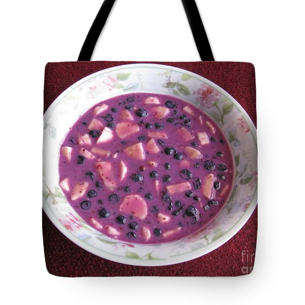 Blueberry And Banana Soup Tote Bag by Ausra Huntington nee Paulauskaite