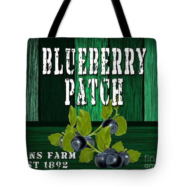 Blueberry Farm Tote Bag by Marvin Blaine