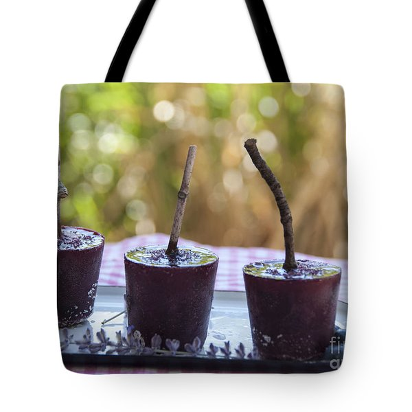 Blueberry Ice Pops Tote Bag by Juli Scalzi