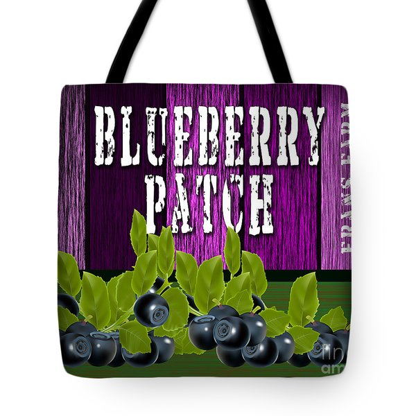 Blueberry Patch Tote Bag by Marvin Blaine