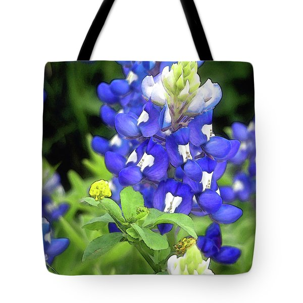 Bluebonnets Blooming Tote Bag by Stephen Anderson
