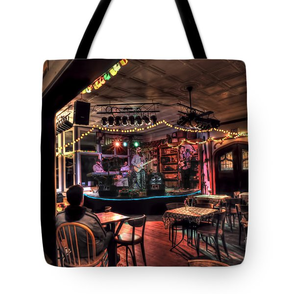 Bluegrass Band In Wv Tote Bag by Dan Friend