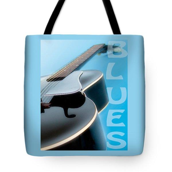 Blues Guitar Tote Bag by David and Carol Kelly