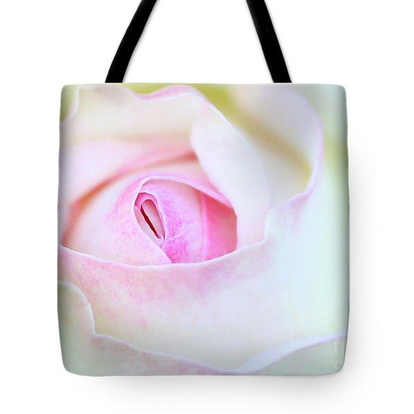Blushed Rose Tote Bag by Sabrina L Ryan