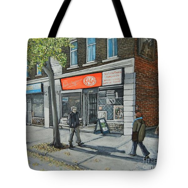 Blvd Monk Ville Emard Tote Bag by Reb Frost