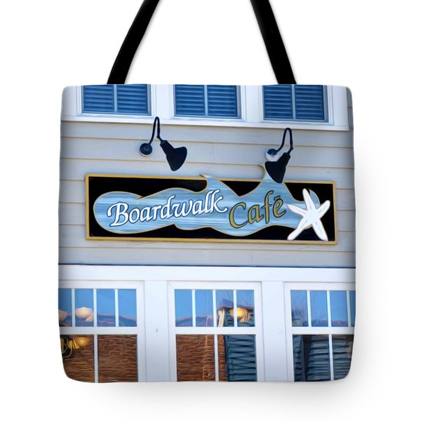 Boardwalk Cafe Tote Bag by Lanjee Chee