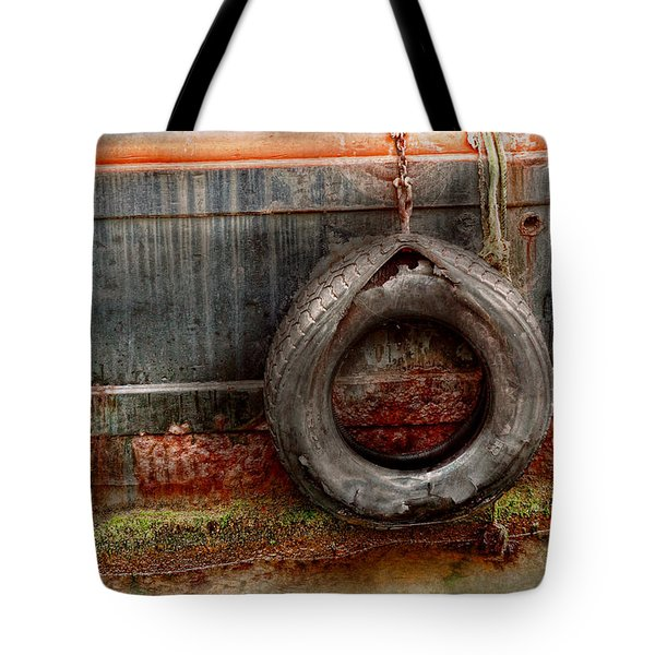 Boat - Abstract - It was a good year Tote Bag by Mike Savad