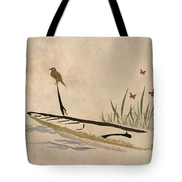 Boat Tote Bag by Aged Pixel
