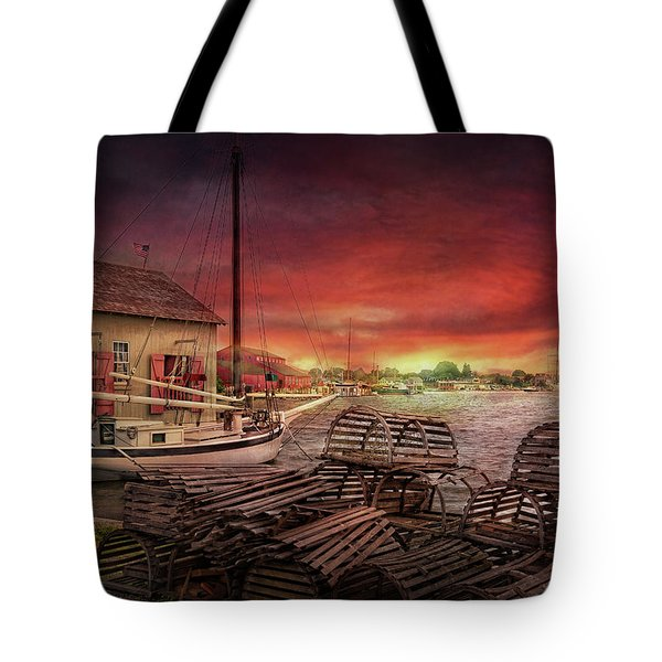 Boat - End of the season  Tote Bag by Mike Savad