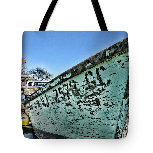 Boat - In A State Of Decay Tote Bag by Paul Ward