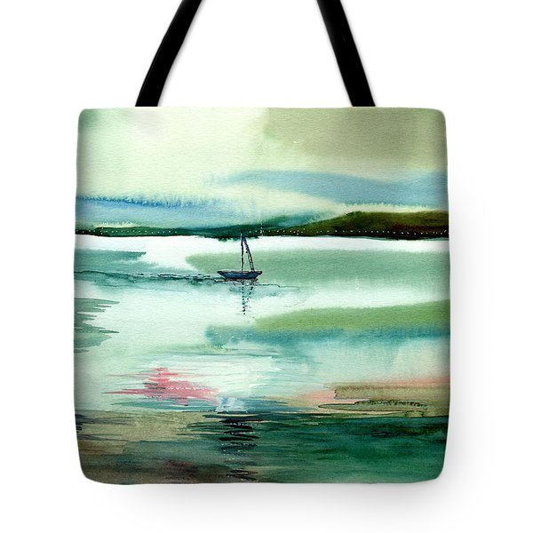 Boat N Creek Tote Bag by Anil Nene