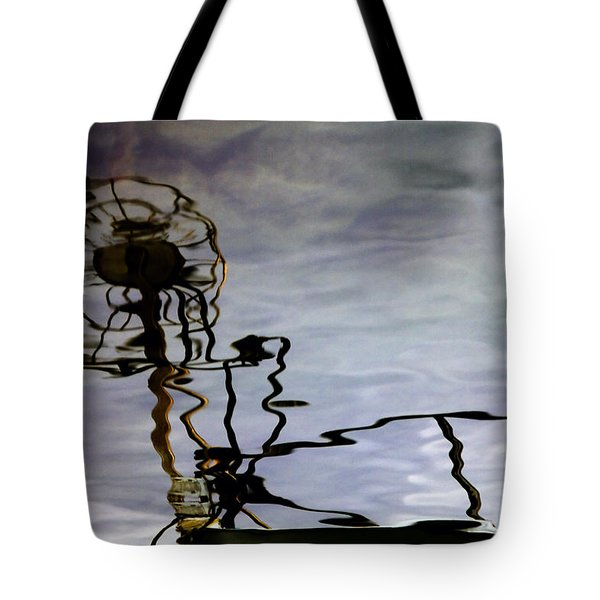 Boat Reflections Tote Bag by Stylianos Kleanthous
