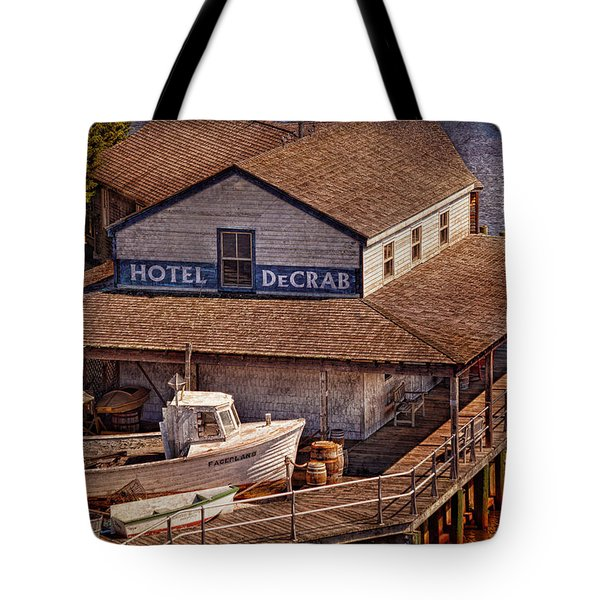Boat - Tuckerton Seaport - Hotel DeCrab  Tote Bag by Mike Savad