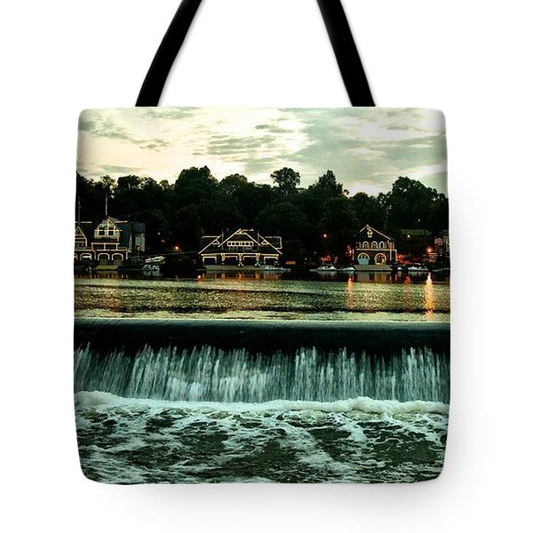 Boathouse Row and Fairmount Dam Tote Bag by Bill Cannon