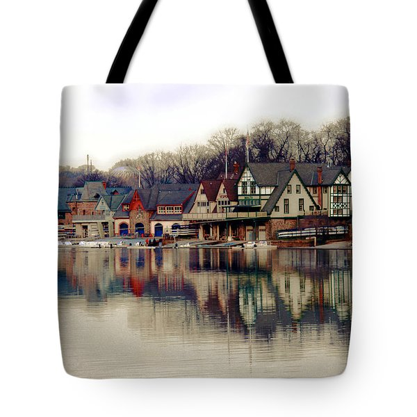 BoatHouse Row Philadelphia Tote Bag by Tom Gari Gallery-Three-Photography