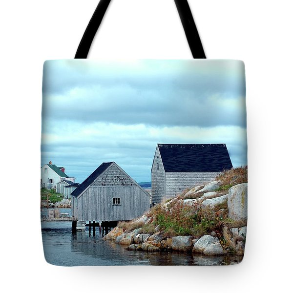 Boathouses Tote Bag by Kathleen Struckle