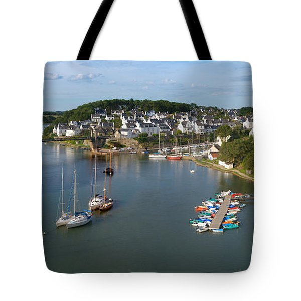 Boats In The Sea, Le Bono, Gulf Of Tote Bag by Panoramic Images