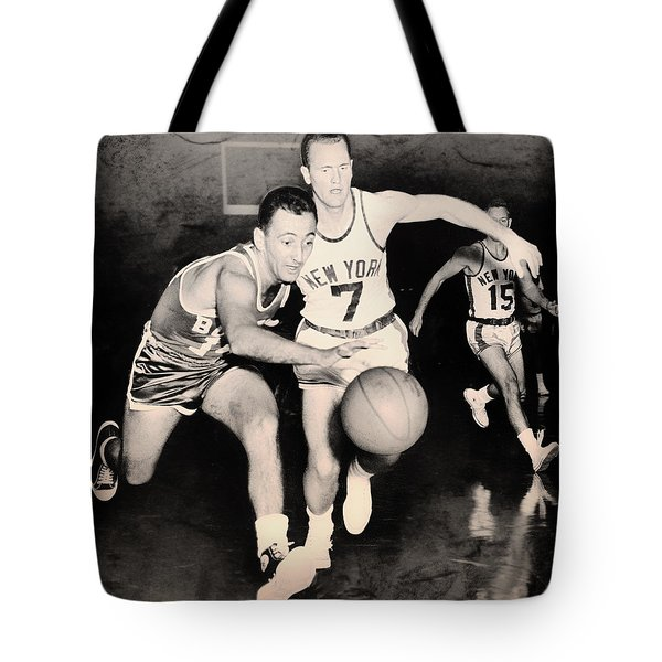 Bob Cousy of the Celtics 1960 Tote Bag by Mountain Dreams