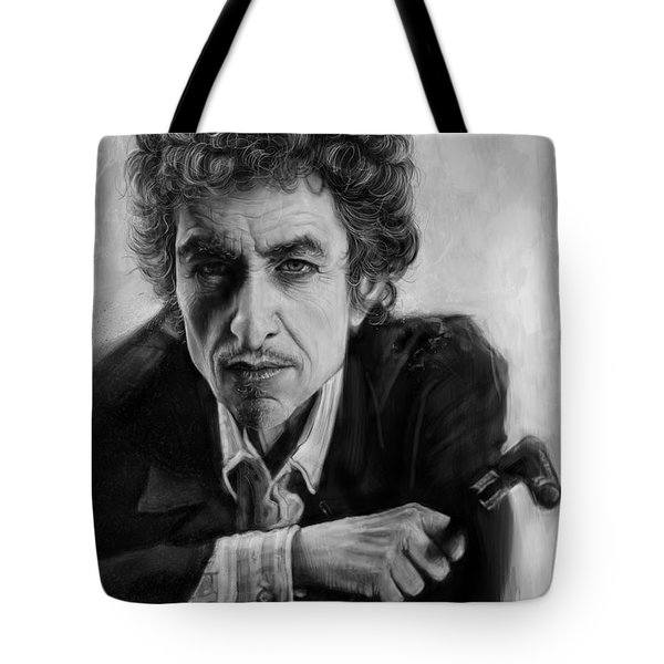 Bob Dylan Tote Bag by Andre Koekemoer