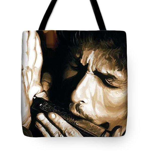 Bob Dylan Artwork 2 Tote Bag by Sheraz A