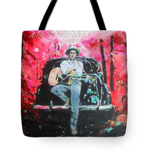 Bob Dylan - Crossroads Tote Bag by Lucia Hoogervorst