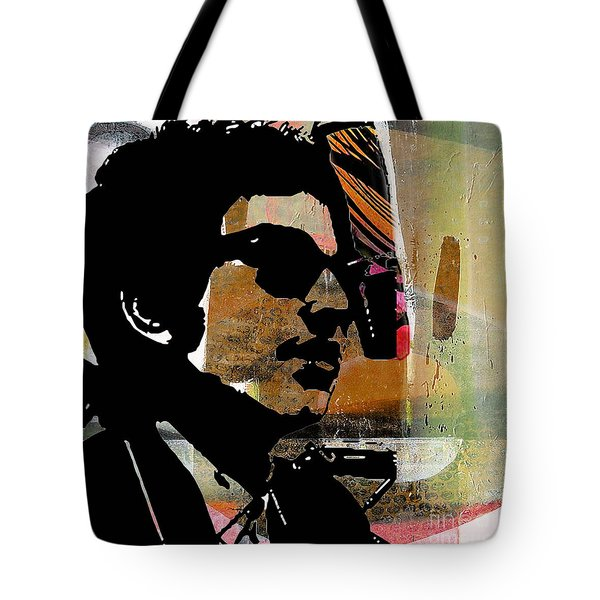 Bob Dylan Recording Session Tote Bag by Marvin Blaine