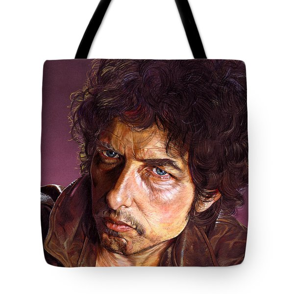 Bob Dylan Tote Bag by Tim  Scoggins
