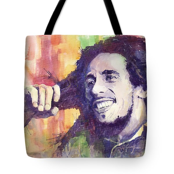 Bob Marley 02 Tote Bag by Yuriy  Shevchuk