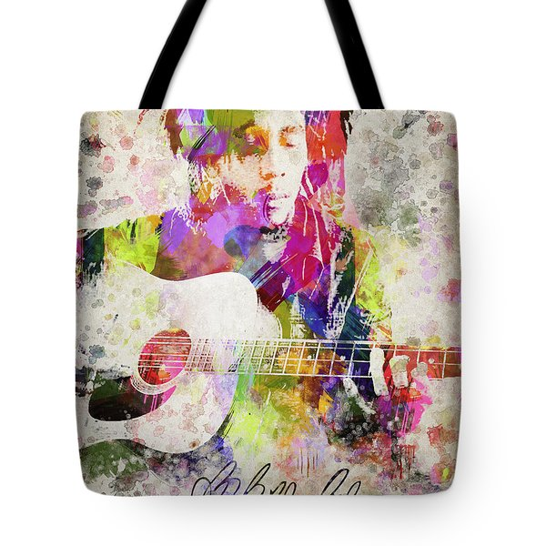 Bob Marley Portrait Tote Bag by Aged Pixel