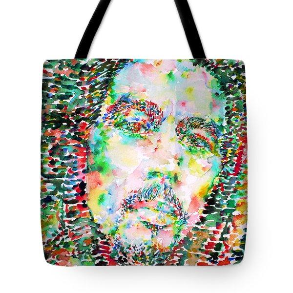 Bob Marley Watercolor Portrait.3 Tote Bag by Fabrizio Cassetta