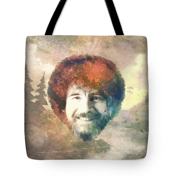 Bob Ross Tote Bag by Filippo B