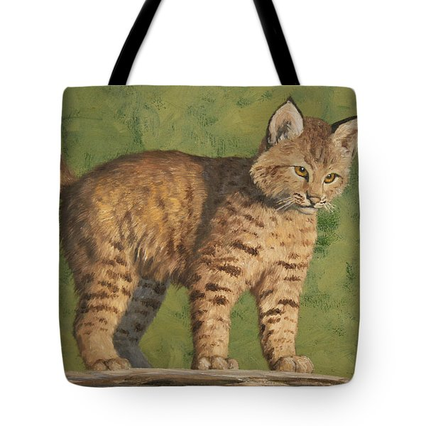 Bobcat Kitten Tote Bag by Crista Forest