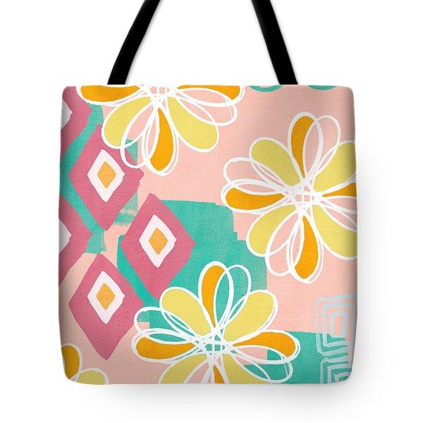 Boho Floral Garden Tote Bag by Linda Woods