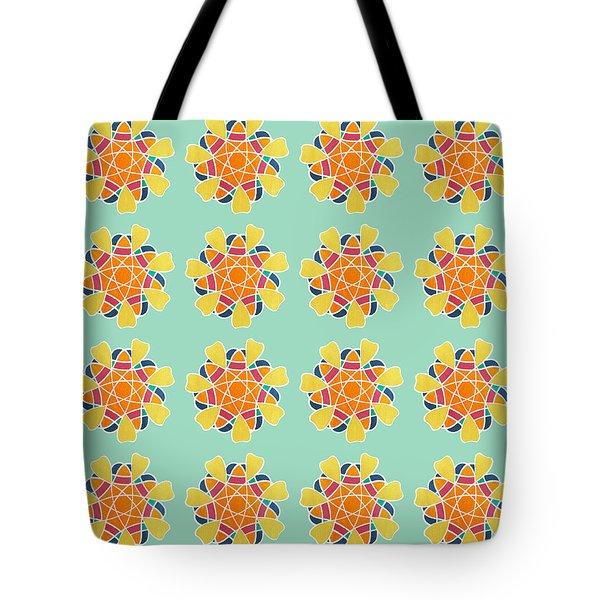 Boho Mandala Print Tote Bag by Linda Woods