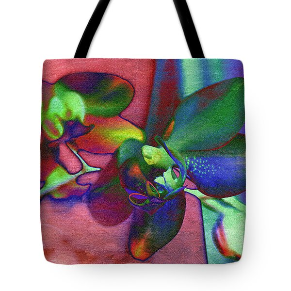 Bold Orchids Tote Bag by Janice Rae Pariza