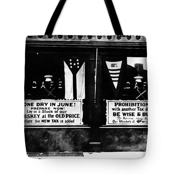 Bone Dry In June - Prohibition Sale Tote Bag by Bill Cannon